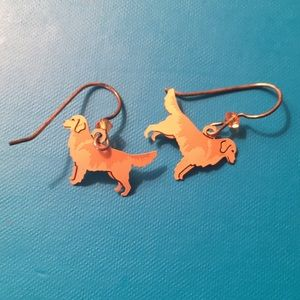 Jewelry - Golden retriever earrings.